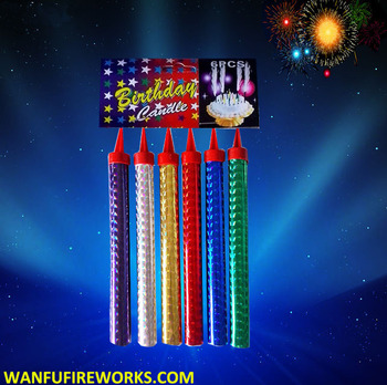 Fancy Birthday Cake Candles Sparklers Ice Fountain Fireworks For Whole Party Decoration