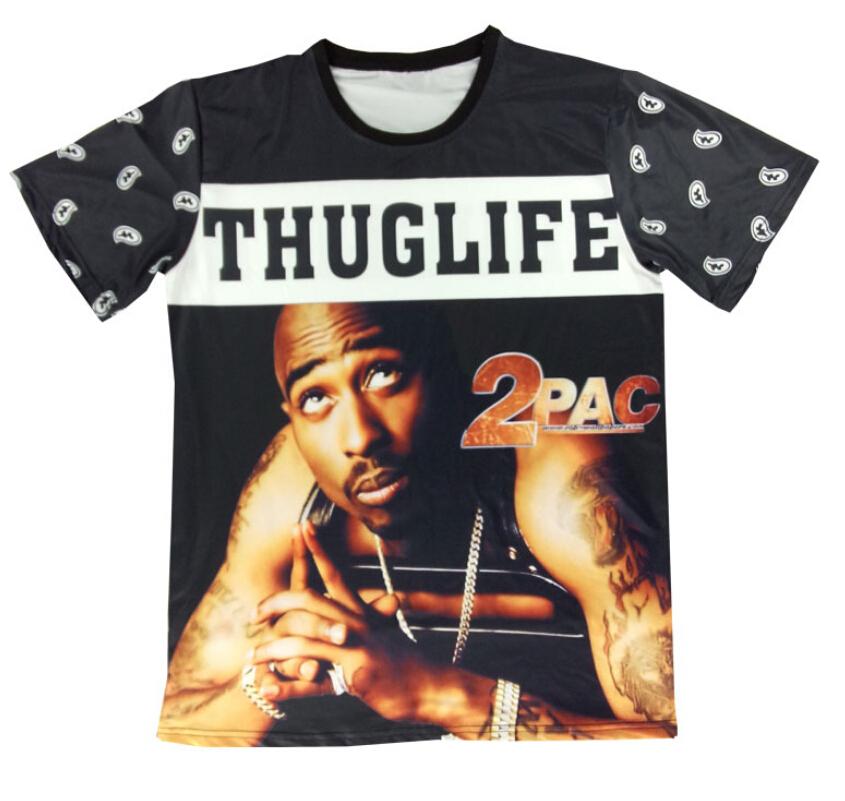 7bd6b8b7c Get Quotations · Summer 2pac tshirt THUGLIFE rock star 2pac tupac Print 3d t  shirt men/women Tops