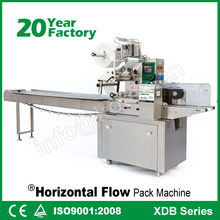 Pillow Biscuit Wrapper Horizontal Flow Core Filling Snack Food Packing Equipment Automatic Chocolate Bar Wrapping Machine