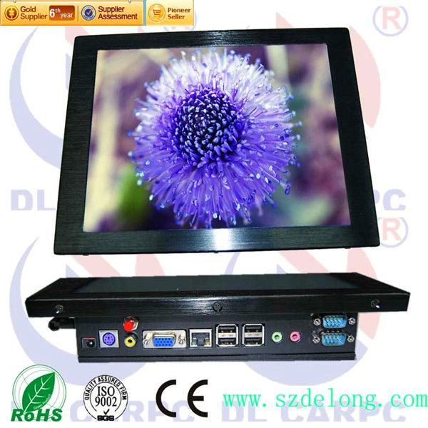DL 17'' LCD Panle Touch Screen 4-Wire Resistance touch All In One Cheap Computers Media Player With Webcam
