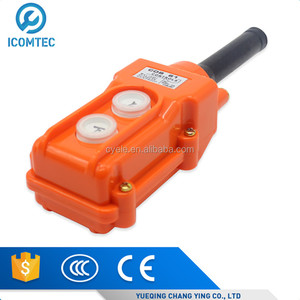 COB-61 Silver Contact Up Down Pushbutton Crane Hoist Switches Push Button Waterproof COB61 CLD-61