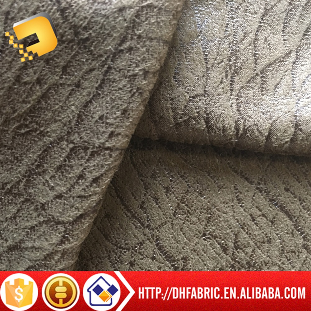 100%polyester warp knitting suede gold printed fabric for sofa