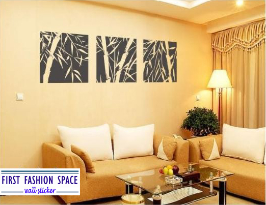Free Shipping First Fashion Space Bamboo Mural Home Decor Decals Decorative Removable Craft Wall Stickers Fashion