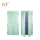 Tiffany green Aluminium double swing louvered door for cabinet