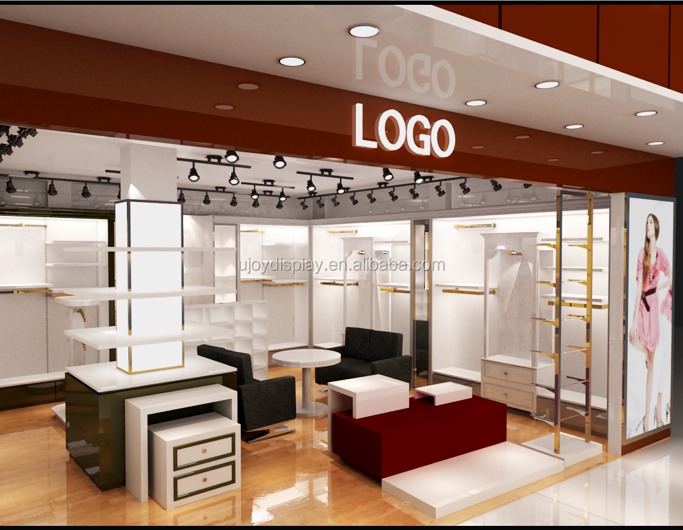 retail garment shop interior design/high end 3D rendering