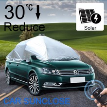 SUNCLOSE aluminum foil+ pp cotton 100% uv protection car cover magnetic car sunshade car seat cover machine
