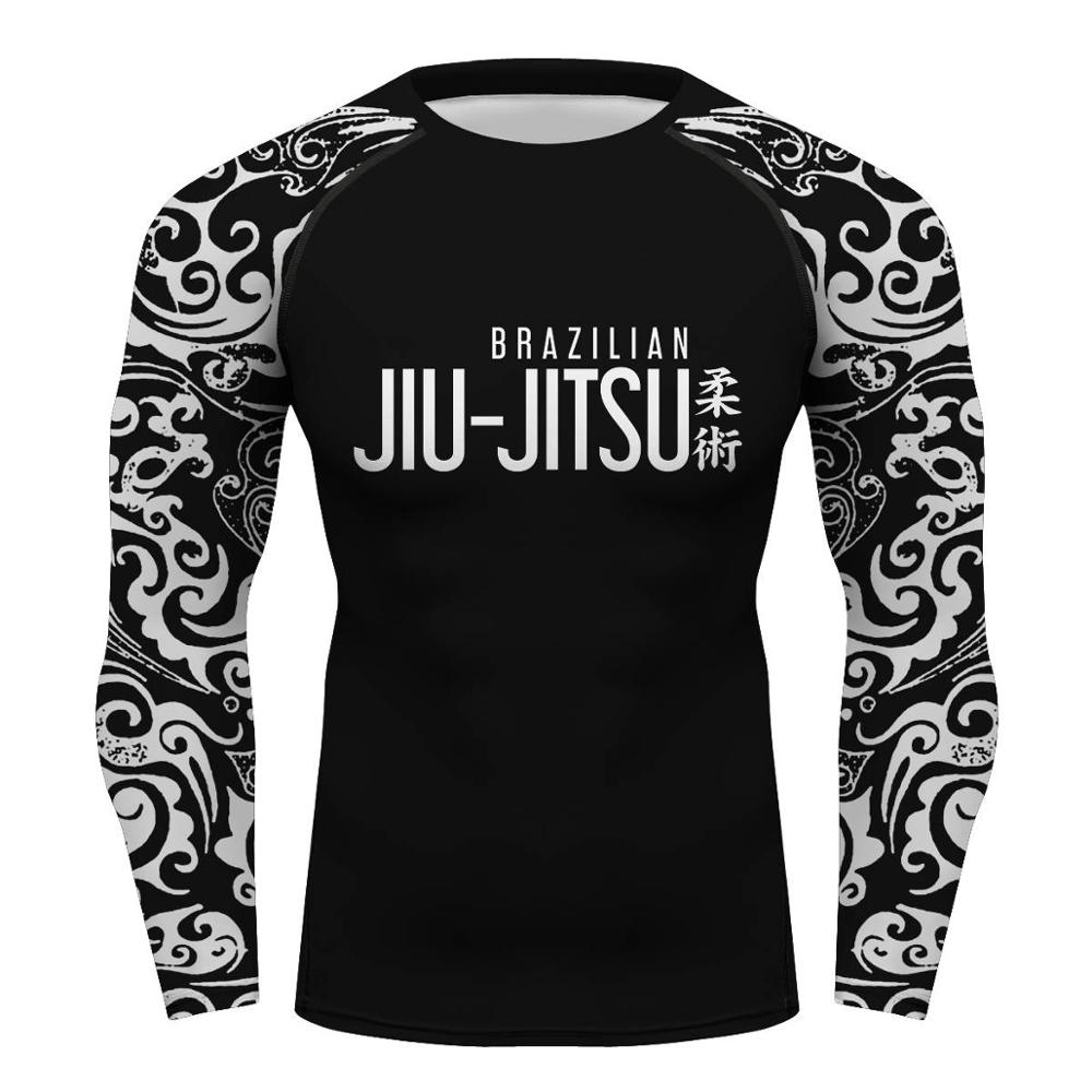 Custom Gi Bjj Rashguards Jiu-jitsu T-shir Compression Shirt Rashguard For  Men Fight Club Boxing Bodybuilding Rash Guard T-shirts - Buy Bjj Mma Work
