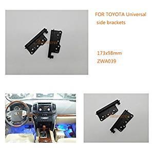 Autostereo Car Radio fascia Facia Panel Adapter for TOYOTA Universal side brackets Car Radio Fitting Kit installation fascia Car Radio Installation Kit
