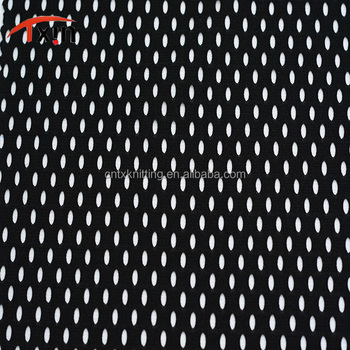 polyester knitted stretch big hole mesh elastic netting for waistcoat and basketball player
