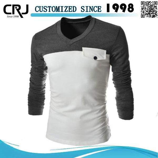 Two Color Long Sleeve T Shirts