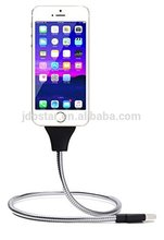 stainless steel cheap 2in1 micro usb&amp8 p cable For Promotion