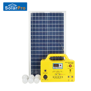 Portable rechargeable mobile charger home solar power system with led MP3 USB radio