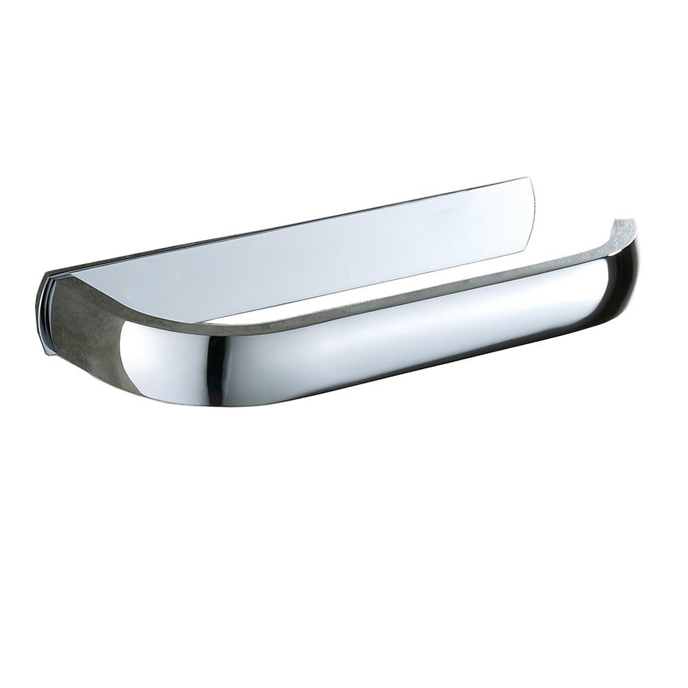 Aothpher Modern Bathroom Toilet Paper Roll Holder Tissue Rack Chrome Finished, Wall Mounted