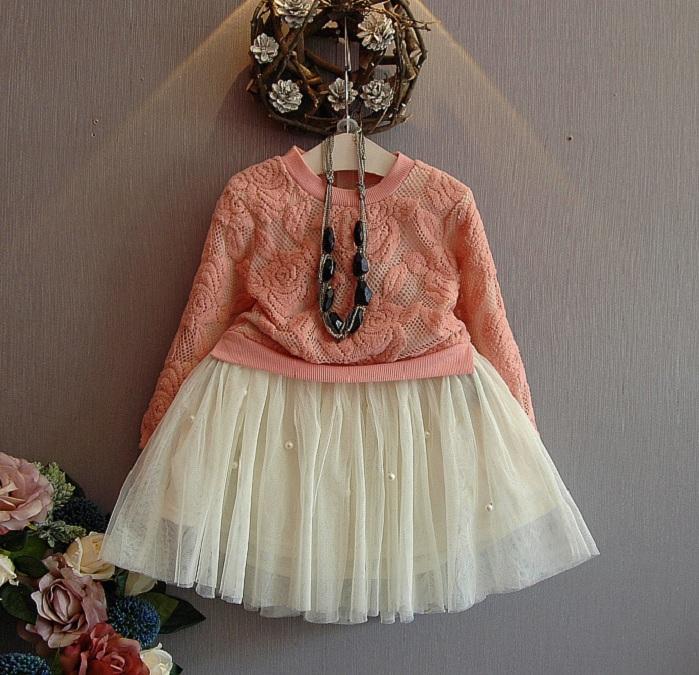 a1f3b8cef 2016 De Alta Moda Para Niñas Casual De Manga Larga Vestidos De Fiesta Con  Patrón De Flores - Buy Niñas Vestidos De Fiesta,Vestidos De Alta Moda,2016  ...