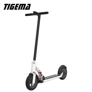 TIGEMA Top sale 2 wheel 8.5 Inch foldable 350W white color electric scooter for EBS brake