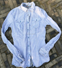 custom fit mens denim shirts long sleeve made in China