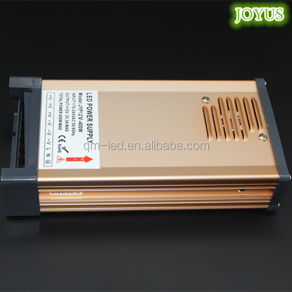 Strip dipimpin 12 v 110 v dc 400 w hujan-bukti power supply