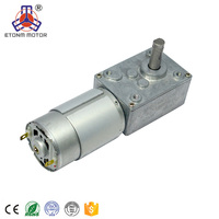 ET-WGM58-A Brand New High Torque, Low Noise, 90 Degree Right Angle 1-100rpm 12V DC Worm Gear Motor