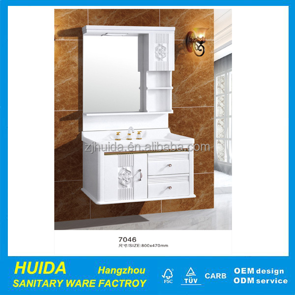 commercial modern design pvc wall bathroom vanity cabinet