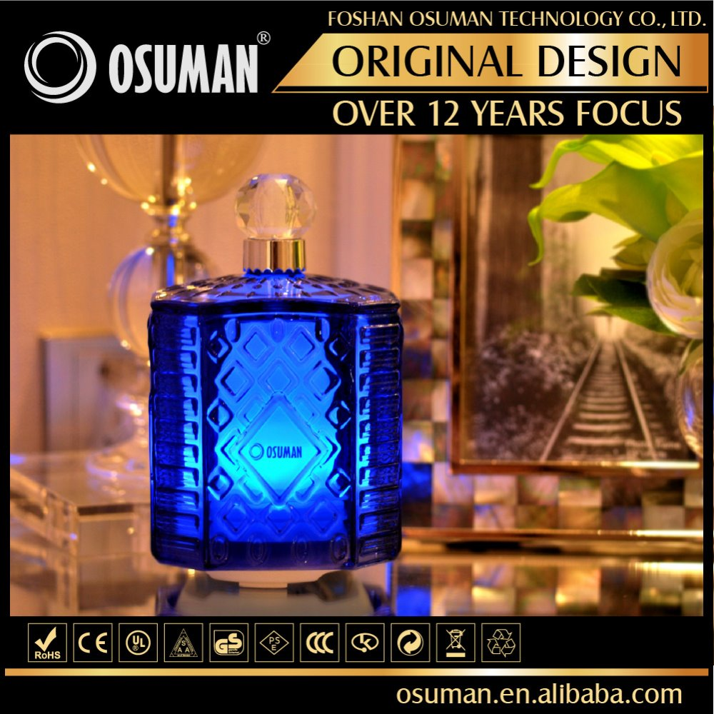 Decorative essence cryal glass aroma essential oil diffuser for sleeping room
