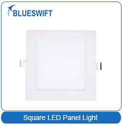 High Efficiency 90lum/w Square 6W Recessed LED Panel Light