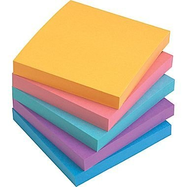 Staples Stickies 3 x 3 Assorted Bold Notes, 12/Pack