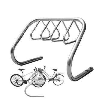 Stainless Steel Floor Mounted Campus Bike Rack
