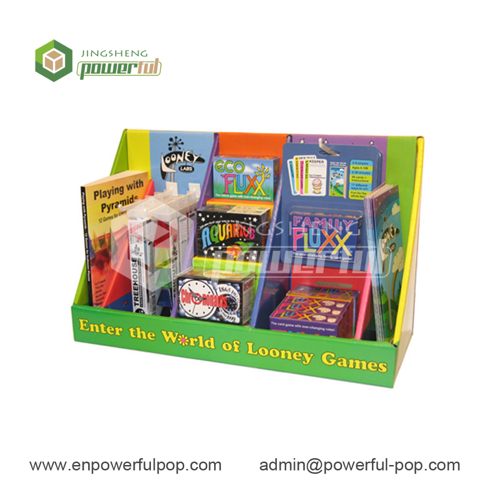 picture storybook cardboard pop up tabletop counter display unit corrugated PDQ stand