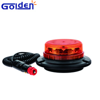 Roadway safety 12v low profile warning traffic light led flashing amber beacon for tractor