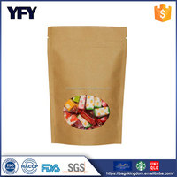 laminated plastic ziplock stand up pouch for flexible food packaging bag