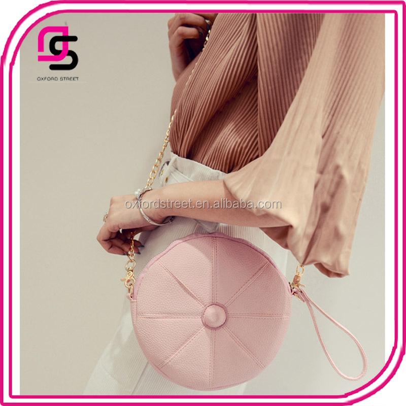 China wholesale new products circle round handbag display stand designer woman handbag shoulder bag sling bag woman