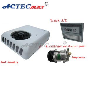 Split truck sleeper roof mini 12v 24v portable air conditioner for cars
