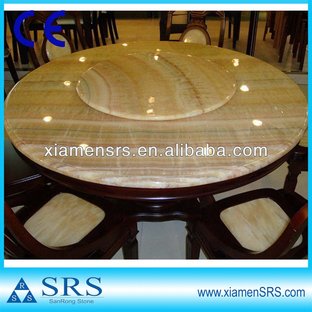 China Yellow Marble Top Round Dining Table - Buy Marble Top Round ...