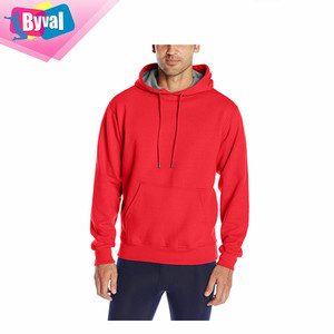 factory direct wholesale clothing gym 100% polyester hoodies fabric men custom dry fit blank red hoodies with no labels running