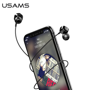 USAMS Aluminum alloy TPE PC in ear Square Small Earphone Stereo Headset 1.2m 3.5mm in Ear Wired Earphones With Microphone