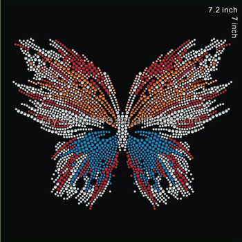Butterfly Rhinestone Hot Fix Transfer für T-Shirts