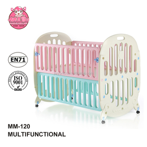 Can stitch to the adult bed plastic baby furniture crib