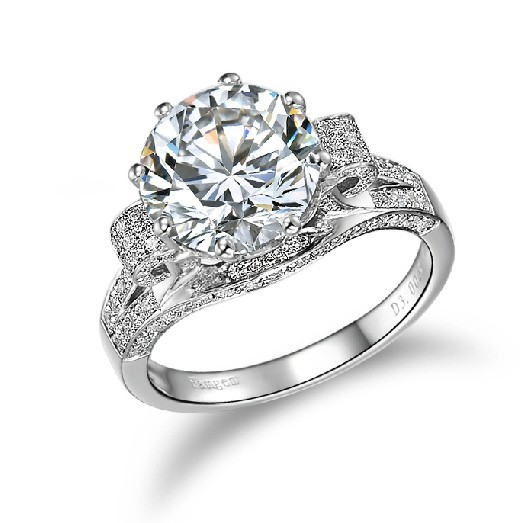 Aliexpress.com : Buy 3 Carat Solid White Gold Round ...