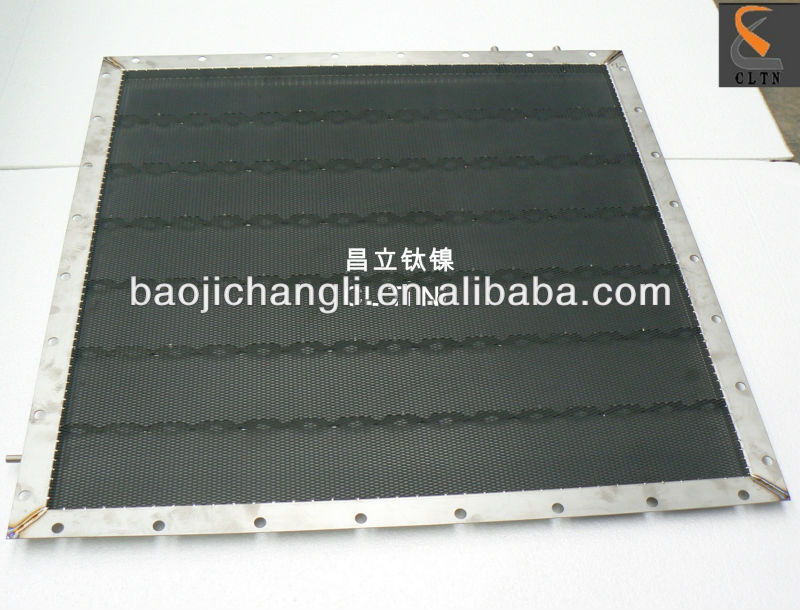 titanium anode box for chlor-alkali plant