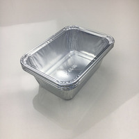 Smoothwall design 150ml capacity rectangular 105*75*36mm small size aluminum foil disposable pudding trays foil food container