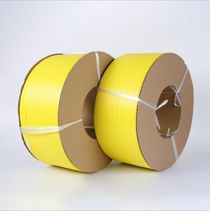 Customized Printed Yellow Polypropylene pp strap on cardboard cores