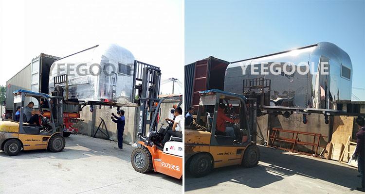 In acciaio inox ristorazione mobile carrello Mobile Hot Dog Cart/concessione rimorchio/rimorchiabile cibo rimorchio per la vendita