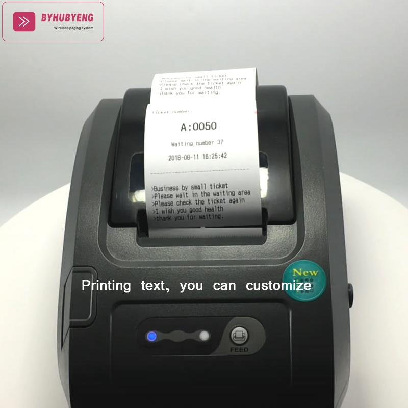 Беспроводная система вызова для очереди в больницу билетный принтер очереди билетная система несколько сервисного окна