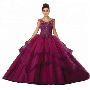 96c687d8f1e China Supplier Prom Dress Ball Gown Sleeveless Crystal Beaded Custom Made  Quinceanera Dresses