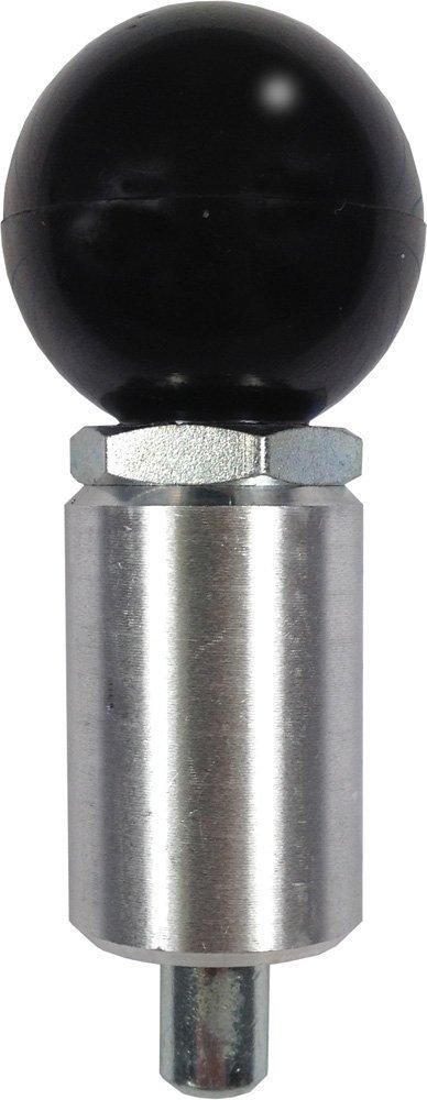 2-1//4 Length x 1 Diameter Steel Barrel Pull Pin 1//2 Diameter Steel Spring-Loaded Plunger T-Handle