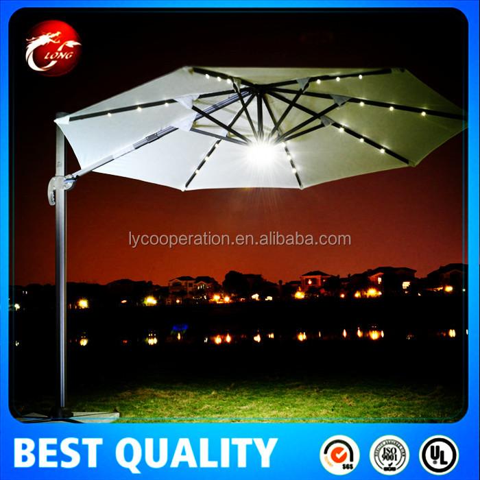 terrasse led regenschirm licht mit fernbedienung. Black Bedroom Furniture Sets. Home Design Ideas