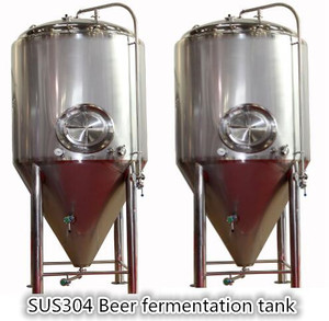 Turnkey Project 1000 litre double-walled stainless steel Beer brewery Conical Fermenter unitank with glycol cooling jacket