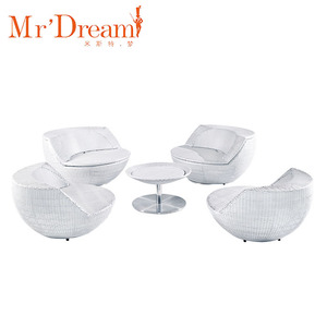 MR.Dream top seller modern used high quality stackable 5 star hotel restaurant wicker round sofa