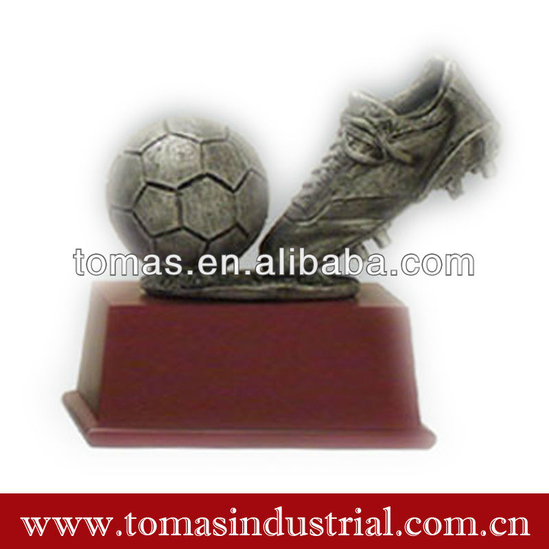 Crafts customized football antique pewter