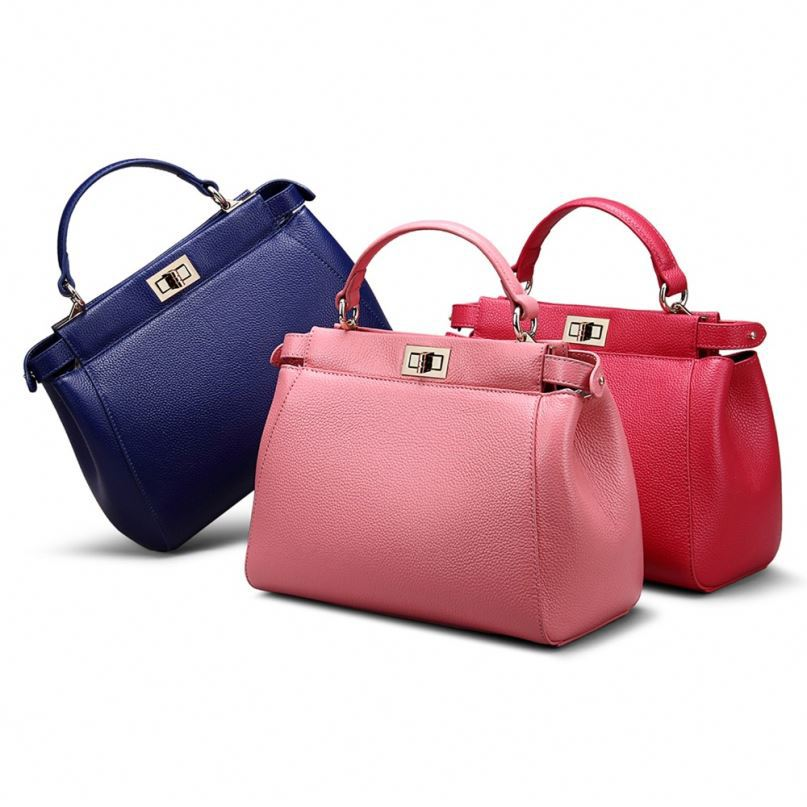 Top quality new available stock Genuine leather handbag women